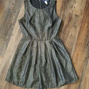 Black and gold cocktail dress by One Clothing. Med